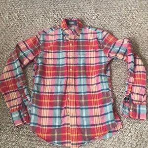 Great condition J. Crew plaid shirt 💯% cotton